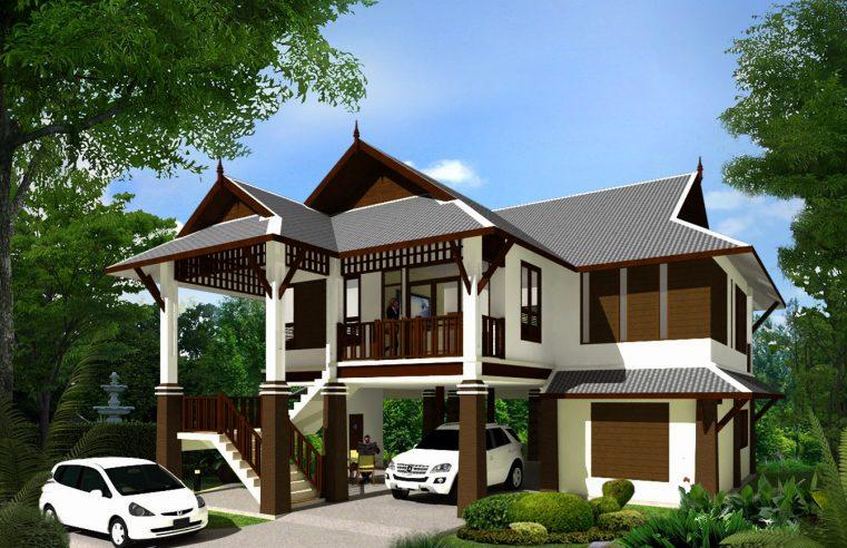 แบบบ้านใต้ถุนสูงไทยประยุกต์