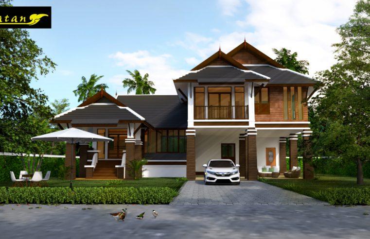 แบบบ้านชั้นครึ่งไทยประยุกต์