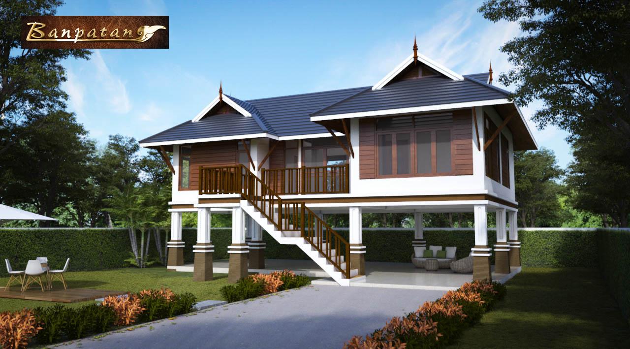 แบบบ้านใต้ถุนสูงไทยประยุกตฺ์