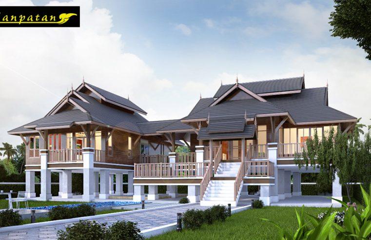 แบบบ้านไทยประยุกต์ใต้ถุนสูง