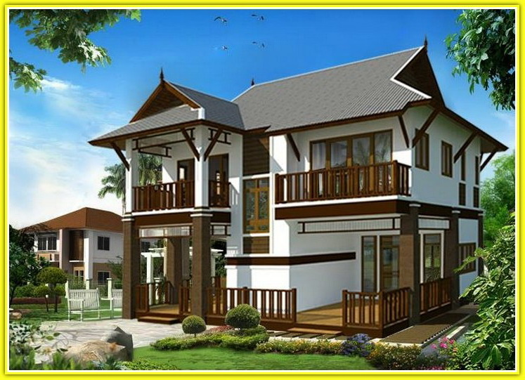 แบบบ้านสองชั้นไทยประยุกต์