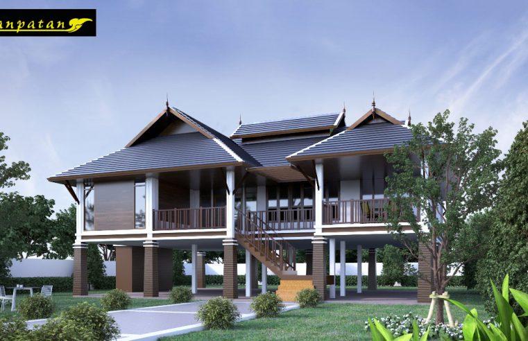 แบบบ้านไทยประยุกต์ใต้ถุนสูง BP32